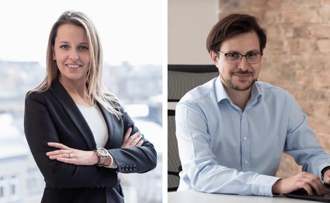 Nowi członkowie zarządu F-Trust - Jakub Strysik oraz Anna Švarcova